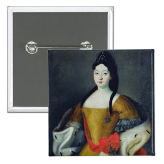 Portrait of Tsarevna Anna Petrovna, 1740s 15 Cm Square Badge