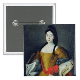 Portrait of Tsarevna Anna Petrovna, 1740s 15 Cm Square Badge