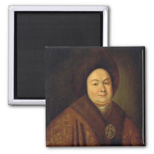 Portrait of Tsarina Evdokiya Feodorovna Square Magnet