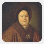 Portrait of Tsarina Evdokiya Feodorovna Square Sticker
