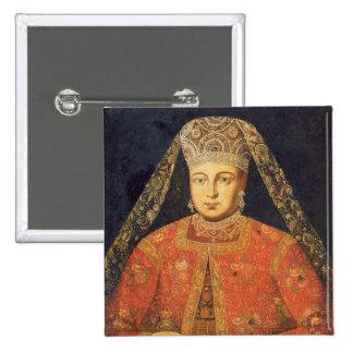Portrait of Tsarina Marfa Matveyevna 15 Cm Square Badge