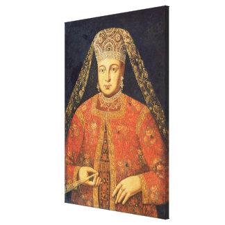 Portrait of Tsarina Marfa Matveyevna Canvas Print