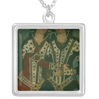 Portrait of Twins Silver Plated Necklace