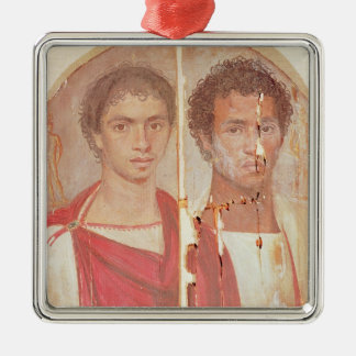 Portrait of two brothers christmas ornament