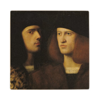 Portrait of Two Young Men Wood Coaster