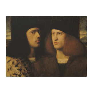 Portrait of Two Young Men Wood Wall Art