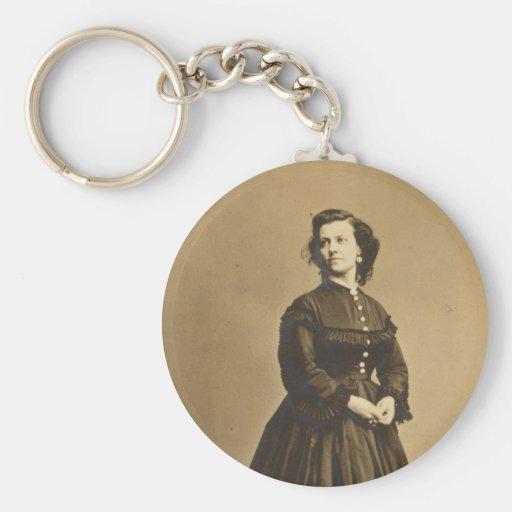 Portrait of Union Spy Pauline Cushman Keychains