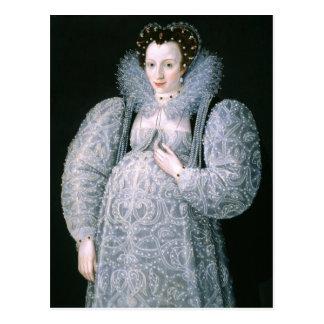 Portrait of Unknown Lady c.1595 Fine Art Postcard