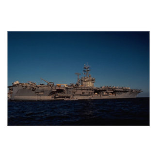 "Portrait of ""USS Nimitz"", nuclear powered carrier, Poster"