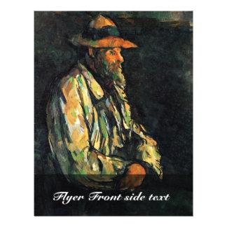 Portrait Of Vallier By Paul Cézanne (Best Quality) Personalized Flyer