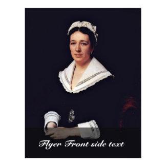 Portrait Of Vera Nikolaevna Tretiakova Born Mamont Flyer