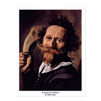 Portrait Of Verdonck By Hals Frans Postcard