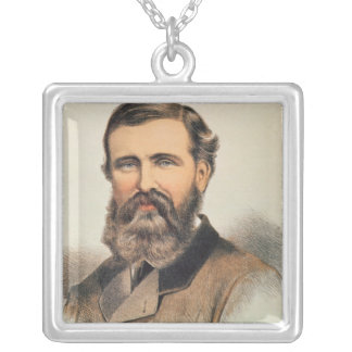 Portrait of Verney Lovett Cameron Silver Plated Necklace