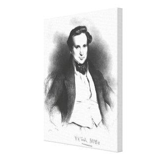 Portrait of Victor Hugo Canvas Print