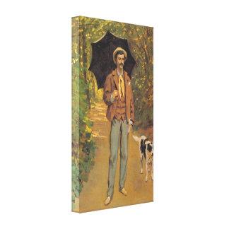 Portrait of Victor Jacquemont by Claude Monet Stretched Canvas Prints
