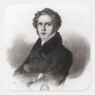 Portrait of Vincenzo Bellini Square Sticker