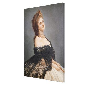 Portrait of Virginia Oldoini Canvas Print
