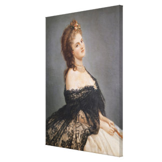 Portrait of Virginia Oldoini Gallery Wrapped Canvas