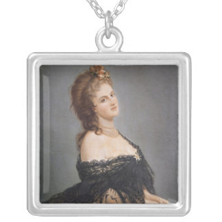 Portrait of Virginia Oldoini Silver Plated Necklace