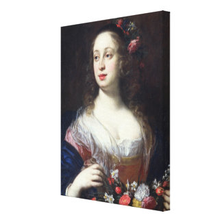 Portrait of Vittoria della Rovere dressed as Flora Canvas Print