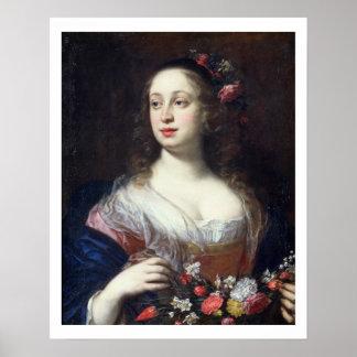 Portrait of Vittoria della Rovere dressed as Flora Poster