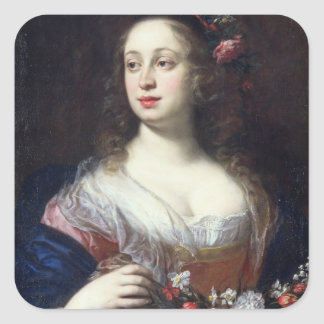 Portrait of Vittoria della Rovere dressed as Flora Square Sticker