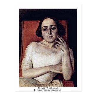 Portrait Of Vittoria Marini Postcard