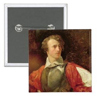 Portrait of Vladimir Samoylov as Hamlet 15 Cm Square Badge
