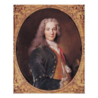 Portrait of Voltaire  aged 23, 1728 Poster