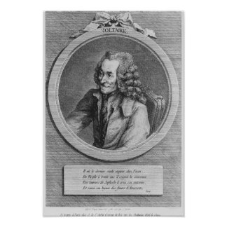 Portrait of Voltaire, from a drawing Poster