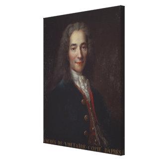 Portrait of Voltaire Stretched Canvas Prints
