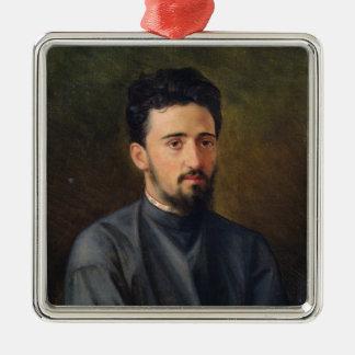 Portrait of Vsevolod M. Garshin, 1878 Christmas Ornament