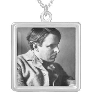Portrait of W.B. Yeats Silver Plated Necklace
