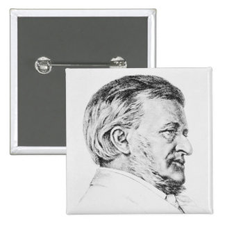 Portrait of Wagner, 19th century 15 Cm Square Badge