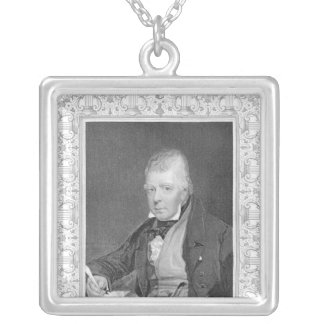 Portrait of Walter Scott Silver Plated Necklace