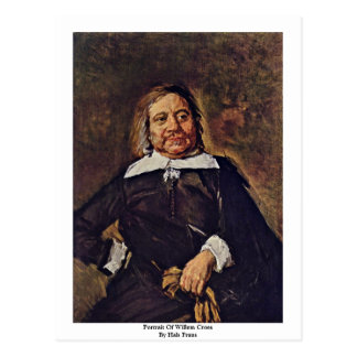 Portrait Of Willem Croes By Hals Frans Postcard