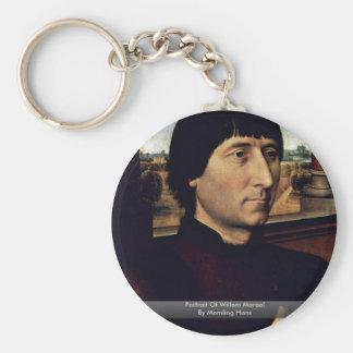 Portrait Of Willem Moreel By Memling Hans Key Chains