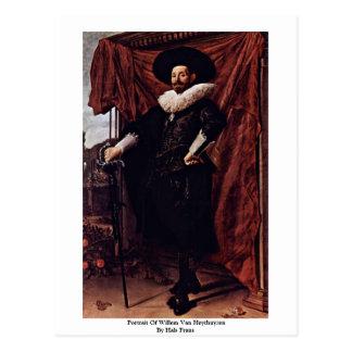 Portrait Of Willem Van Heythuyzen By Hals Frans Postcard