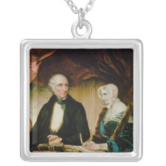 Portrait of William and Mary Wordsworth, 1839 Silver Plated Necklace