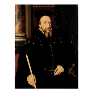 Portrait of William Cecil Poster