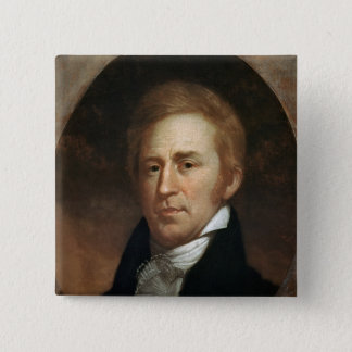 Portrait of William Clark, c.1807 15 Cm Square Badge