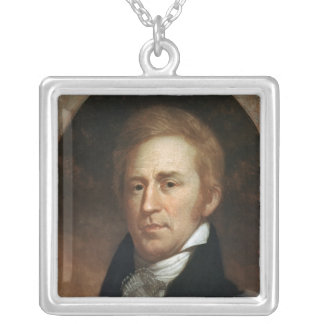 Portrait of William Clark, c.1807 Silver Plated Necklace
