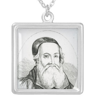 Portrait of William Grindal Silver Plated Necklace