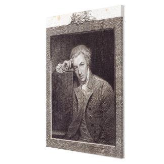 Portrait of William Hayley Canvas Print