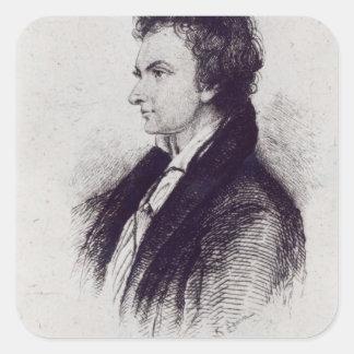 Portrait of William Hazlitt Square Sticker
