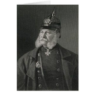 Portrait of William I  King of Prussia Card