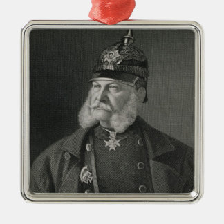 Portrait of William I  King of Prussia Christmas Ornament