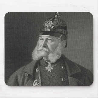Portrait of William I  King of Prussia Mouse Mat