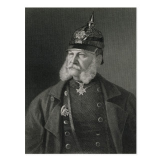 Portrait of William I  King of Prussia Postcard