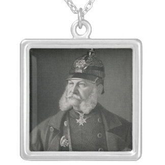 Portrait of William I  King of Prussia Silver Plated Necklace